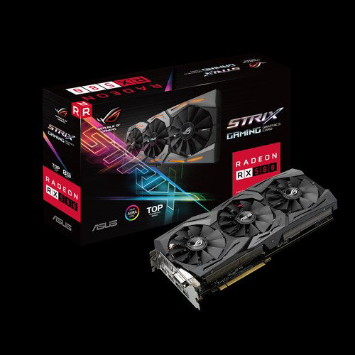 Asus ROG STRIX RX580-T8G-GAMING RX580 PCIE Video Card, 8GB DDR5
