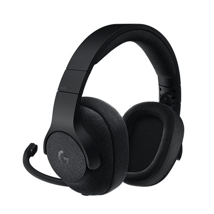 Logitech G433 7.1 Surround Sound Gaming Headset, Black