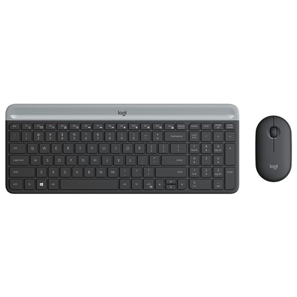 Logitech MK470 Slim Wireless Keyboard & Mouse, Graphite