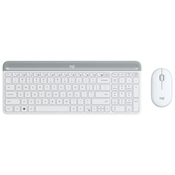 Logitech MK470 Slim Wireless Keyboard & Mouse, White